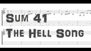 SUM 41 - The Hell Song [Guitar & Bass Tab]