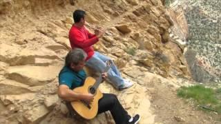 Huascar Barradas y Elvis Martinez en el Grand Canyon
