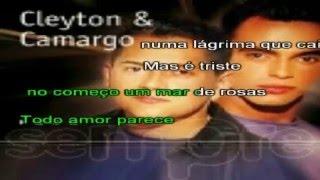 Quando um grande amor se faz - Cleyton & Camargo - Karaokê para baixar em Ré Maior