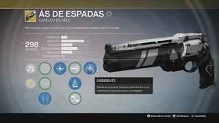 DESTINY - ÁS DE ESPADAS - CANHÃO DE MÃO EXÓTICO EXCLUSIVO DO CAÇADOR