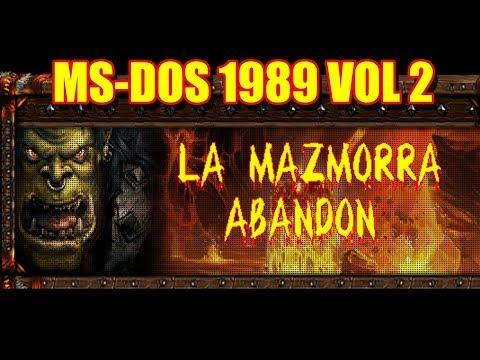 MS DOS GAMES 1989 VOL 2 CON MAZMORRA ABANDOM