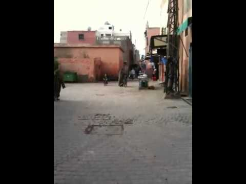 Marrakesh, Morocco – walking from the Riad to the city Walls