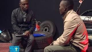 Yellow Dove (Antonio) chats with Pastor Choolwe of Gospel Envoys Church width=