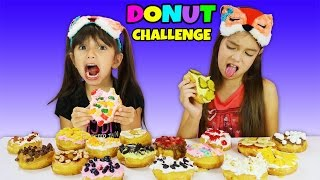 DONUT CHALLENGE! Disgusting and Gross Flavor Combinations - Kids vs Food