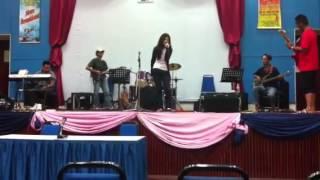 Nur Syuhada Afiqah During Rehearsal bintang kecil 2012 zon miri