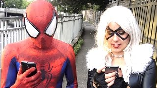 Spider-Man & Black Cat play Pokémon Go - TheSeanWardShow