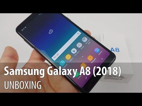 Samsung Galaxy A8 (2018) Unboxing în Limba Română