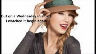 Paroles Begin Again - Taylor Swift ( Lyriics)