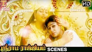 Sri Rama Rajyam Tamil Movie Scenes | Nayanthara Leaves With Roja | Balakrishna | Ilayaraja width=