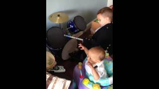 """Luca Drumming to Foo Fighters """"The Pretender"""" featuring Ollie Coco!"""