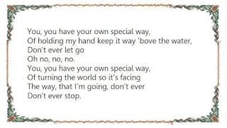 Genesis - Your Own Special Way Lyrics