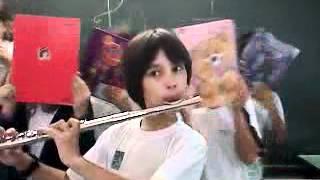 Flauta na escola