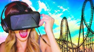 RUNNING on a VIRTUAL Roller Coaster   Oculus Rift DK2