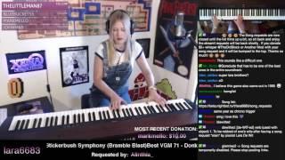 Lara plays Stickerbrush Symphony (Donkey Kong Country 2)