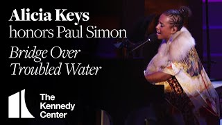 Alicia Keys - Bridge Over Troubled Water (Paul Simon Tribute) - 2002 Kennedy Center Honors