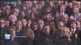 """L'""""Ave Maria"""" retentit pour Johnny Hallyday dans l'église de la Madeleine"""