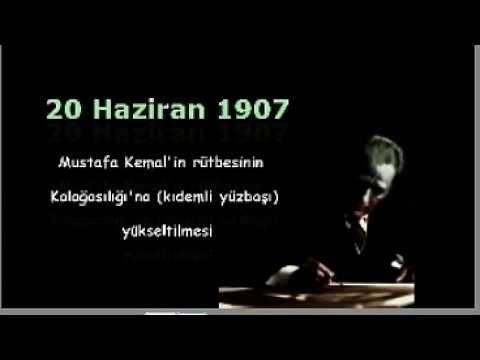 Mustafa Kemal Atatürk - Kronolojisi