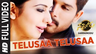 TELUSAA TELUSAA Full Video Song ||