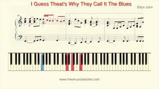 """How To Play Piano: Elton John """"I Guess That's Why They Call It The Blues"""" by Ramin Yousefi"""