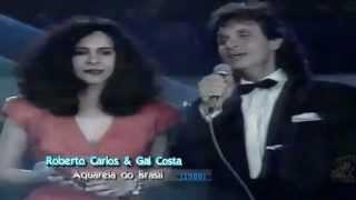 Roberto Carlos e Gal Costa - Aquarela do Brasil (Especial de 1986)