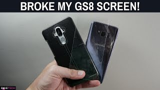 BROKE MY GALAXY S8 SCREEN! Get a case and tempered glass screen protector! It's worth it!