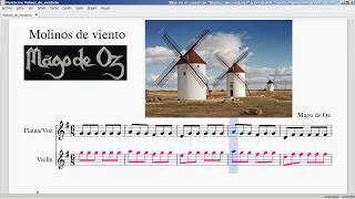 Molinos de Viento.Mago de Oz. Partitura violin-flauta