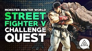 Monster Hunter World | Ryu Armor, Gestures & Street Fighter Challenge Quest