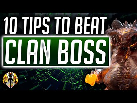 RAID: Shadow Legends | 10 Things you need to know to beat up the clan boss!