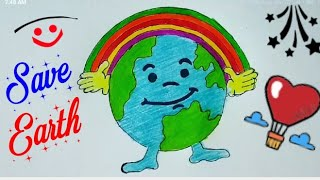 Save Earth Drawing For Kids Step By Step Save Earth Save Future