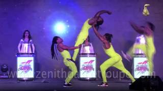 Acrobats with LED Drum Zenith Dance Troupe New Delhi India
