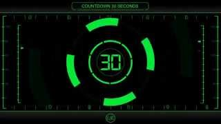 COUNTDOWN Timer 30 sec ( v 225 ) Clock with Sound Effects and Voice 4k