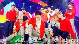 《MISCHIEVOUS》 세븐틴(SEVENTEEN) - 만세(Mansae) @인기가요 Inkigayo 20151025