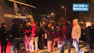 Incidentes na chegada do Autocarro do Futebol Clube do Porto ao Dragão