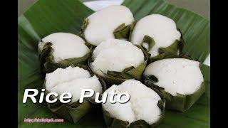 Putong Bigas sa Dahon ng Saging (Rice Puto in Banana Leaves)