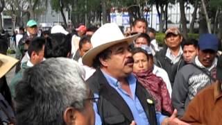Plantón y huelga de hambre contra el maíz transgénico en México