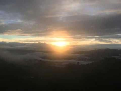 Sunrise at Namo Buddha monastery