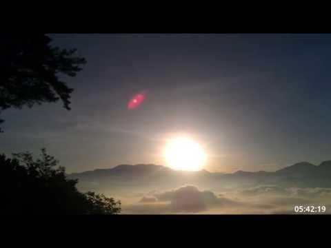 20150714阿里山祝山車站日出縮時攝影 - YouTube