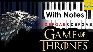 Easy piano songs for beginners Game of Thrones