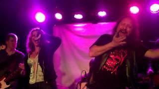don't stop believing journey punk metal karaoke street light people Prof Damage
