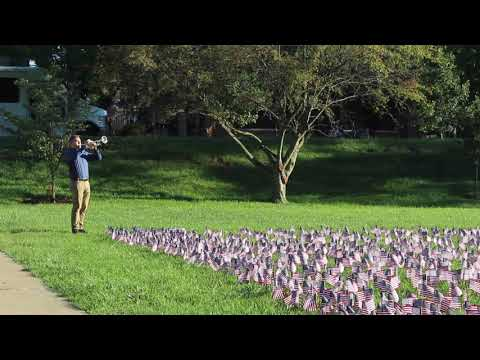 Each year,  Young Americans for Freedom club puts out flags in IU's Dunn Meadow to honor the lives that were lost in the attack on 9/11.