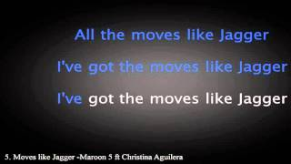 Moves Like Jagger -  Maroon 5 ft  Christina Aguilera