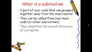 Subroutines in vb.net