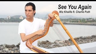 See you again - Wiz Khalifa ft. Charlie Puth //Harp cover by Danilo Sastre