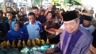 Warga Antusias Sambut SBY di Kota Binjai