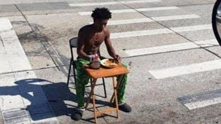 Prankster Gets Arrested For Eating Pancake Breakfast In The Middle of Road