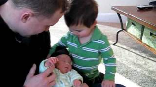 Colin meeting Justin for the first time!
