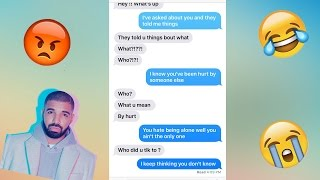 SONG LYRIC TEXT PRANK ON MY FRIEND! DRAKE - TAKE CARE ft. RIHANNA