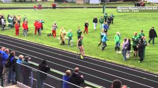 Michalea Wenning anchors the 4x4 at WBL's on crutches