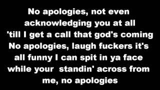 eminem no apologies lyrics