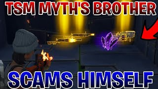 TSM_MYTH'S Brother Scams Himself (Scammer Gets Scammed)Fortnite Save The World